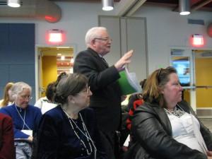 John M., Hillary W. and audience Legislative Day 2015