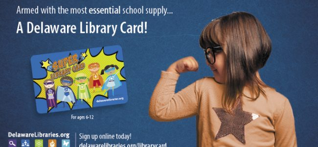 Delaware Library Card Sign-Up month