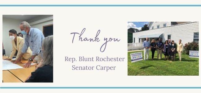 Thank you Rep. Blunt Rochester and Senator Carper